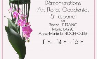 Affiche Escale Florale Cléguer exposition 5-6 octobre 2019 (1)