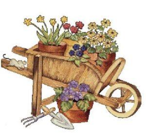 brouette fleuris